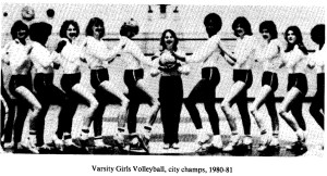 1980-81 Varsity Girls Volleyball Champs
